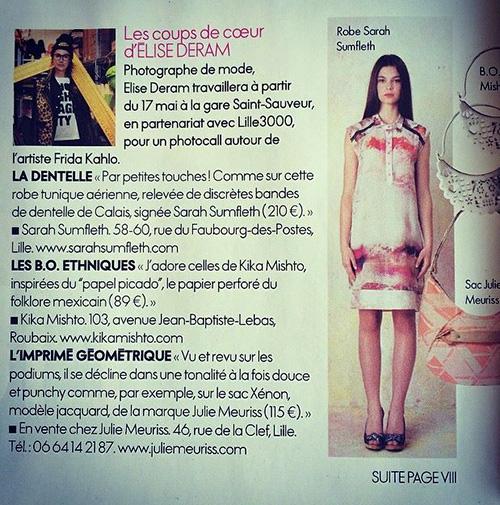 cover Parution dans Elle magazine