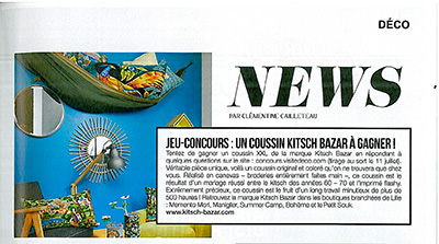 cover PARUTION MAGAZINE VISITE DECO